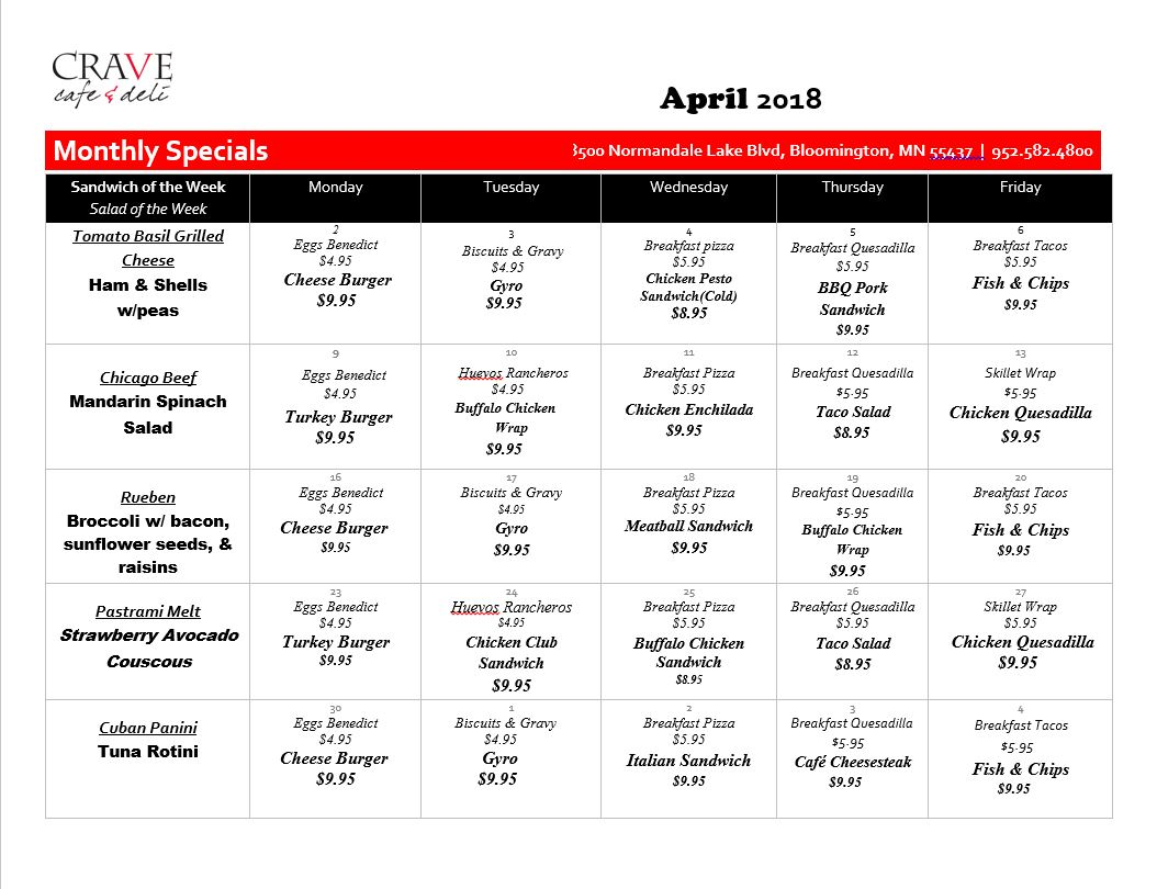 CRAVE_Cafe_Specials_April_2018