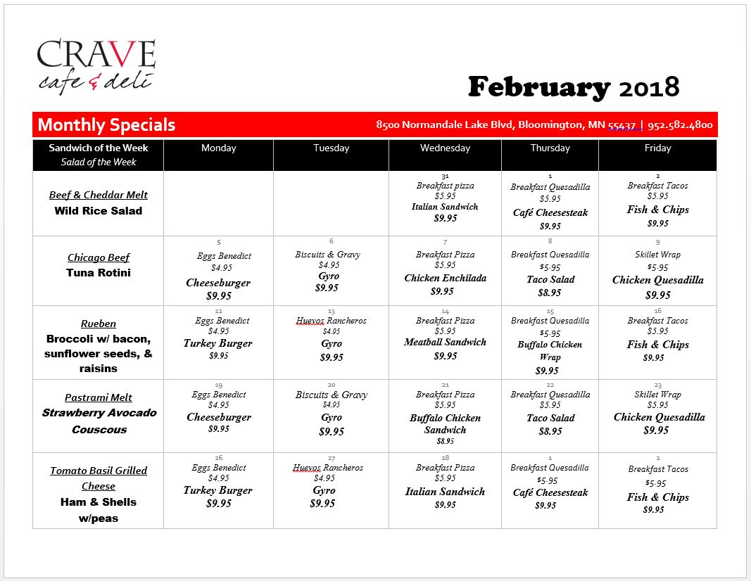 CRAVE_Cafe_Specials_January_2018